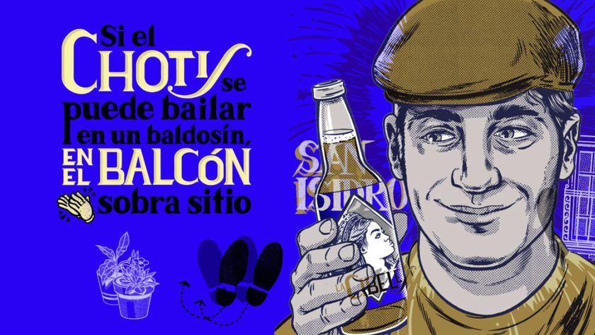 Campagne La Cibeles, qui lance sa boutique en ligne pour livrer votre Pack San Isidro, composé d'une brune et d'une blonde ... filles du peuple madrilène
