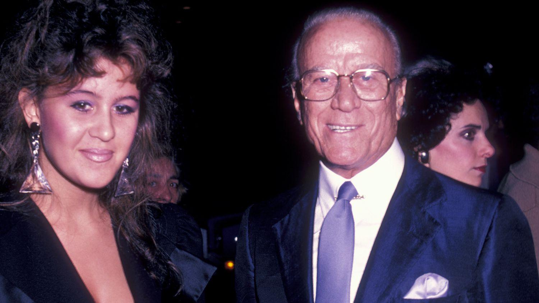 Aldo Gucci et sa fille Patricia Gucci lors d'une première à New York en septembre 1982.